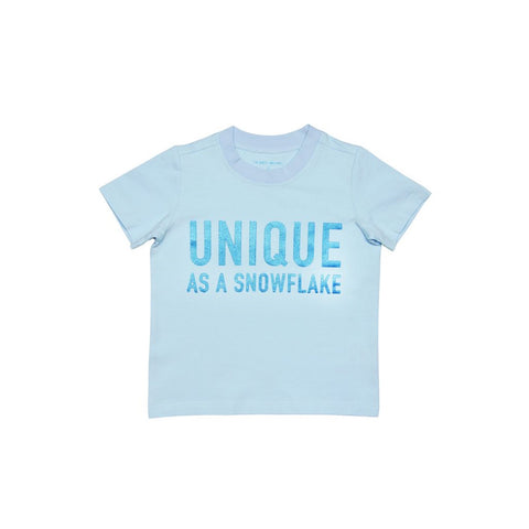 "Le Petit Society Kids ""Unique As A Snowflake"" Tee"
