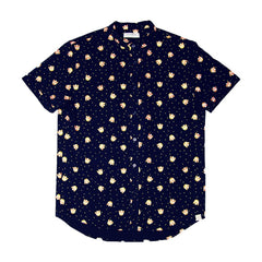 Le Petit Society Lion Dance Series - Men's Shirt In Navy