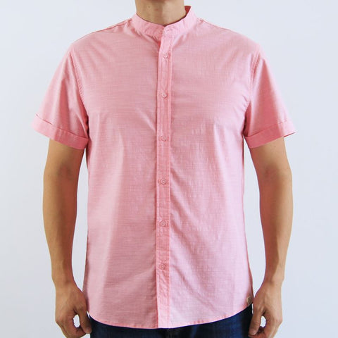 Le Petit Society Lion Dance Series - Personalisable Men's Pink Linen Shirt