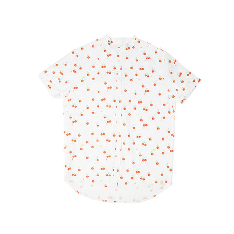 Le Petit Society Mandarin Orange Series - Men's Shirt In White