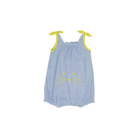 Le Petit Society Mouse Series - Baby Girl Chambray Romper