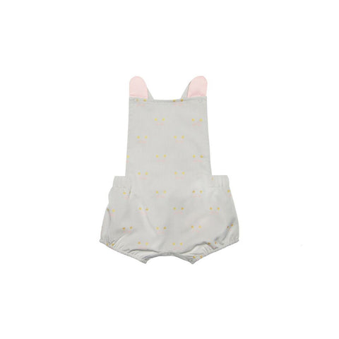 Le Petit Society Mouse Series - Baby Party Romper In Grey