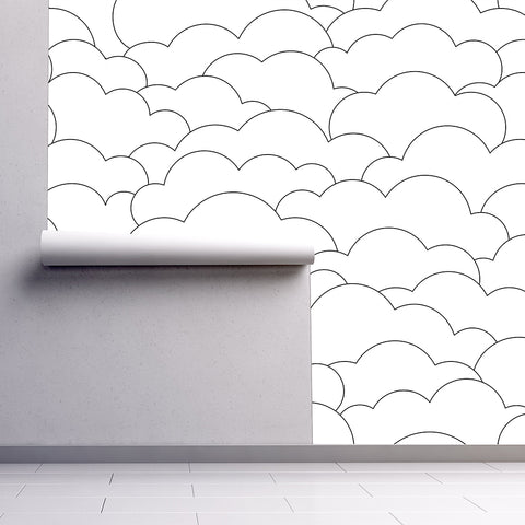 Urban Li'l Line Cloud Wallpaper