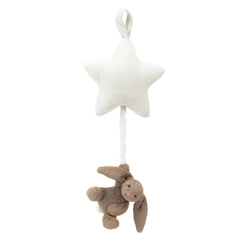 Little Jellycat Bashful Beige Bunny Star Musical Pull
