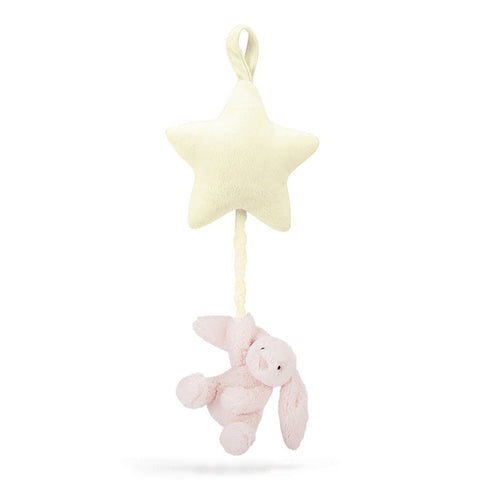Little Jellycat Bashful Pink Bunny Star Musical Pull