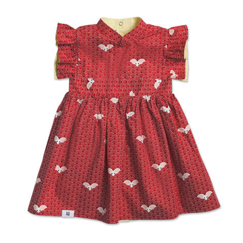 MAISON Q Little Tangmi Reversible Flared Sleeves Cheongsam