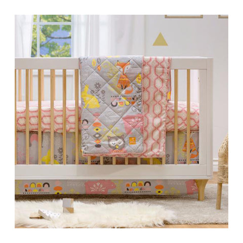 Living Textiles 4 Piece Crib Bedding Set Enchanted Garden