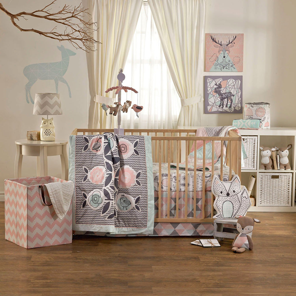 Living Textiles 4 Piece Crib Set Sparrow