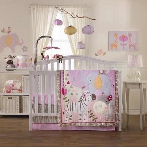 Living Textiles 4 Piece Crib Set Surina