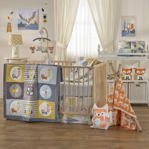 Living Textiles 4 Piece Crib Bedding Set Woods