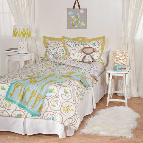 Living Textiles Animal Tree Comforter and Sham