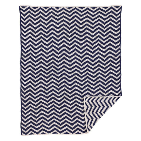 Living Textiles Chevron Blanket