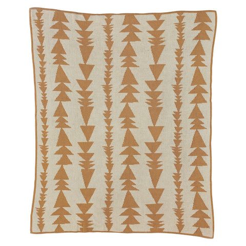 Living Textiles Organic Knit Blanket - Arrows