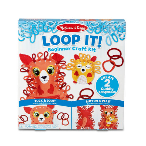 Melissa & Doug Loop It! Cuddly Kangaroos Beginner Craft Kit 3 years+