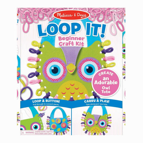 Melissa & Doug Loop It! Owl Tote Beginner Craft Kit 3 years+