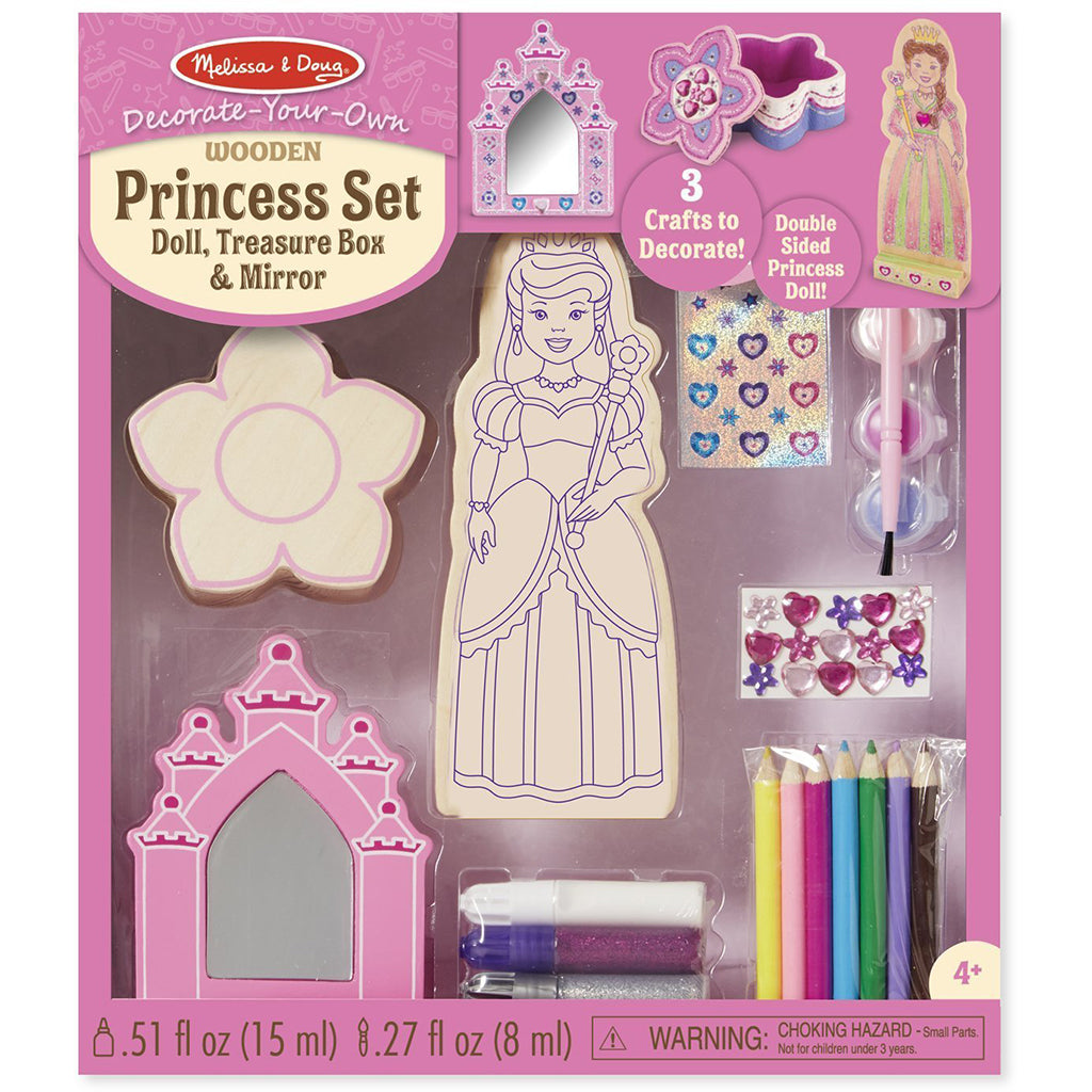 Melissa & Doug Decorate-Your-Own Wooden Princess Set