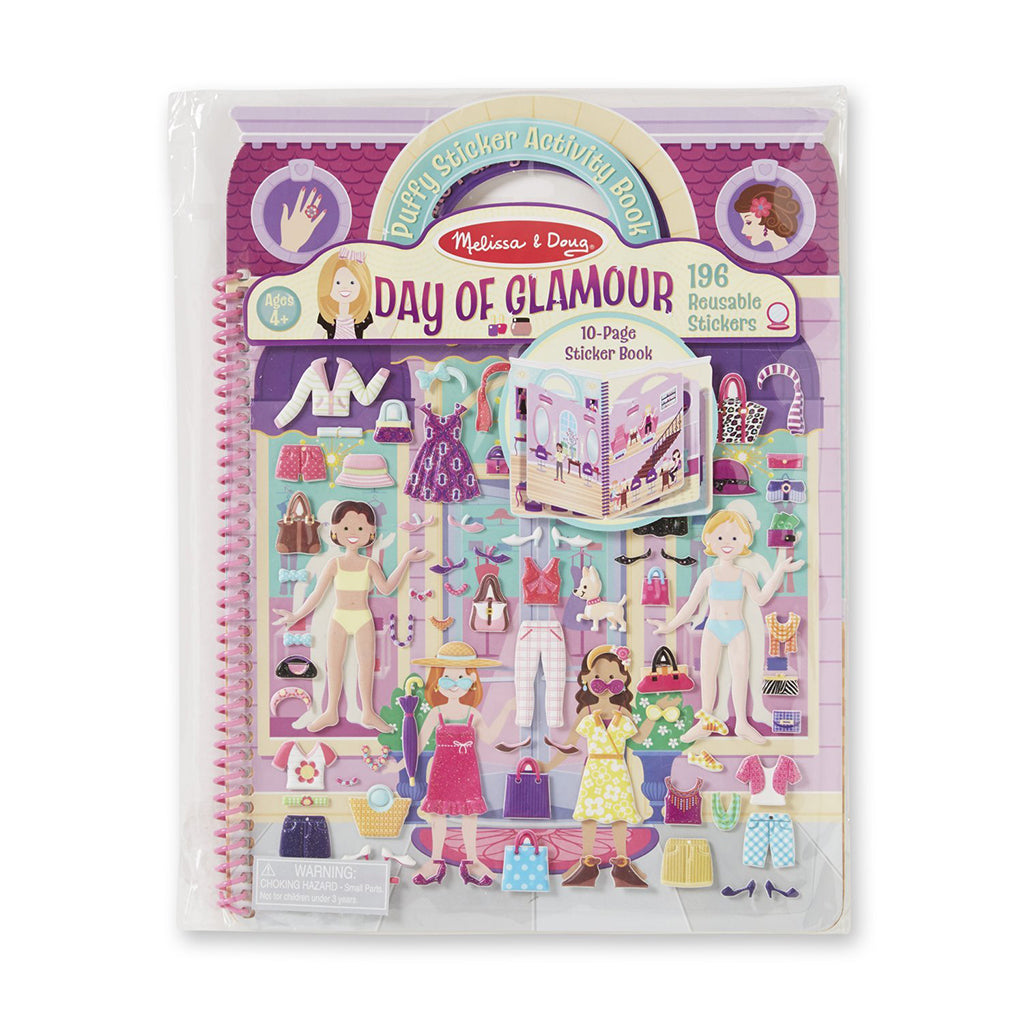 Melissa & Doug Deluxe Puffy Sticker Album Day of Glamour