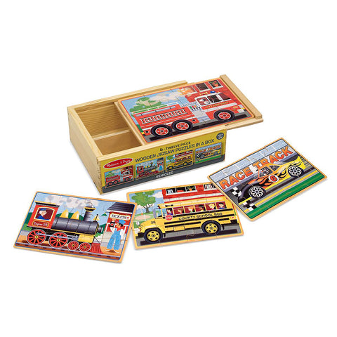 Melissa & Doug Jigsaw Puzzles in a Box Construction