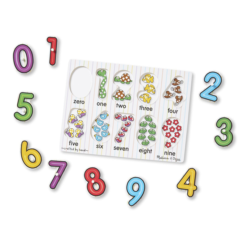 Melissa & Doug See-Inside Numbers Pegged Puzzle 10pcs