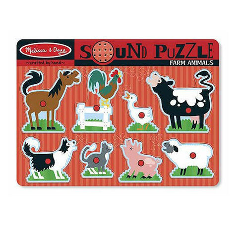 Melissa & Doug Sound Puzzle 8pcs - Farm Animals