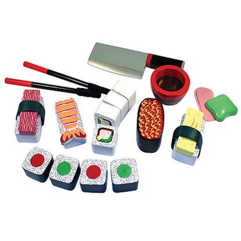 Melissa & Doug Wooden Play Food Sushi Slicing Play Set