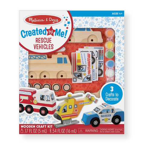 Melissa & Doug Decorate Your Own Set - Vehicles