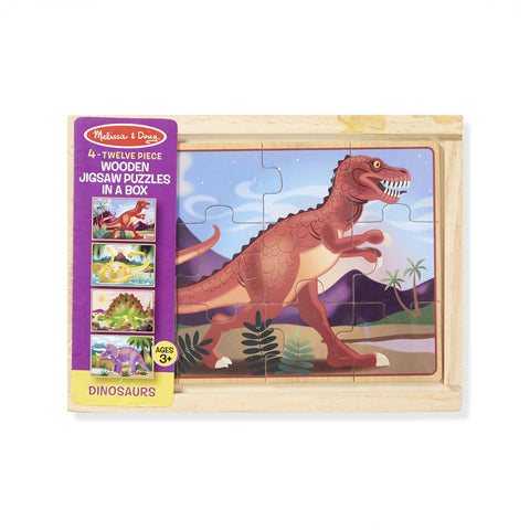 Melissa & Doug Dinosaurs Jigsaw Puzzles in a Box