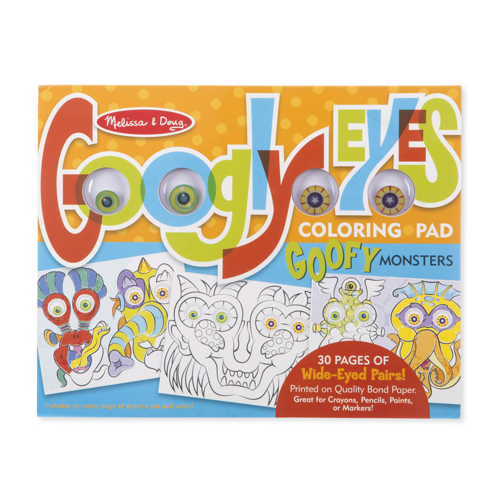 Melissa & Doug Googly Eyes Coloring Pad - Goofy Monsters