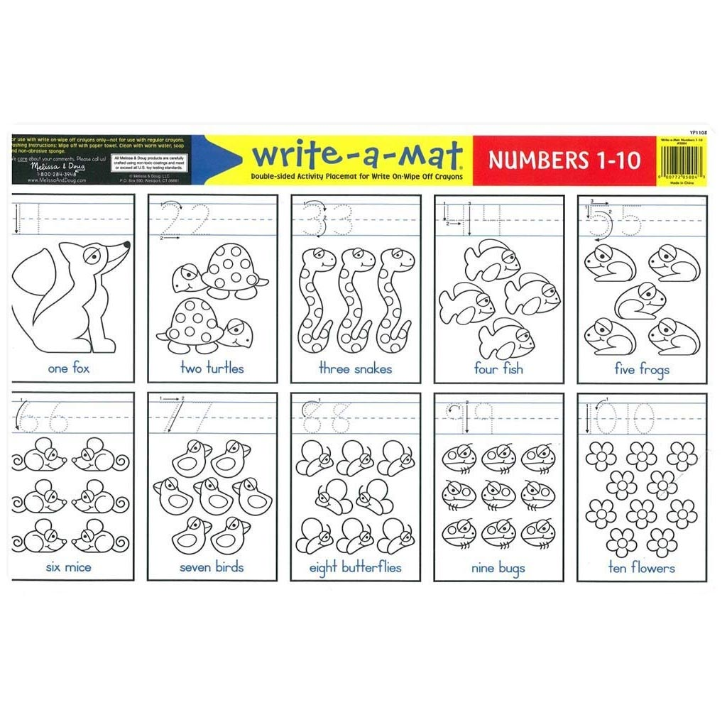 Melissa & Doug Numbers Learning Placemat
