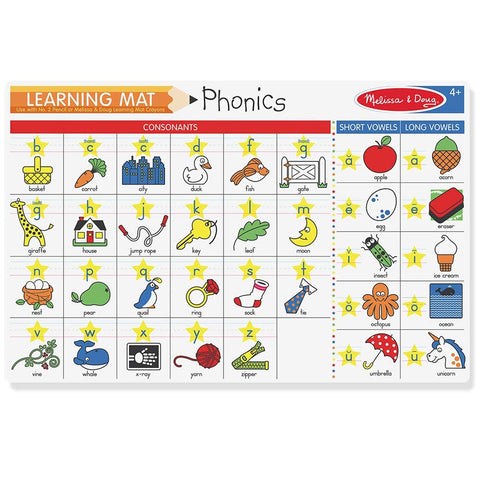 Melissa & Doug Phonics Learning Placemat