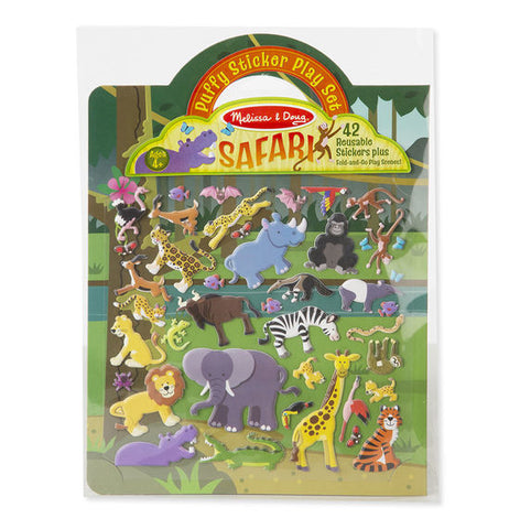 Melissa and Doug Puffy Sticker Playset - Safari