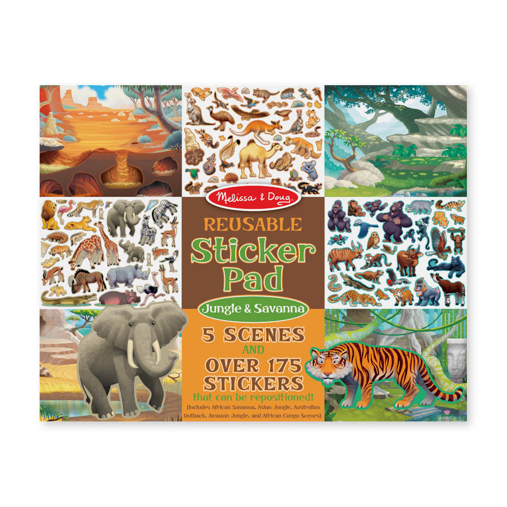 Melissa & Doug Reusable Sticker Pad - Jungle