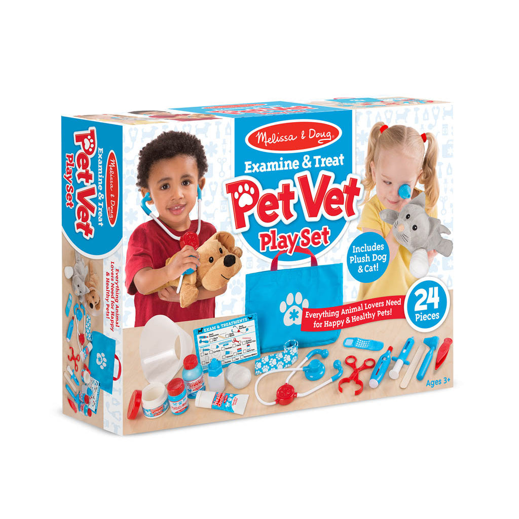Melissa & Doug Examine & Treat Vet Play Set
