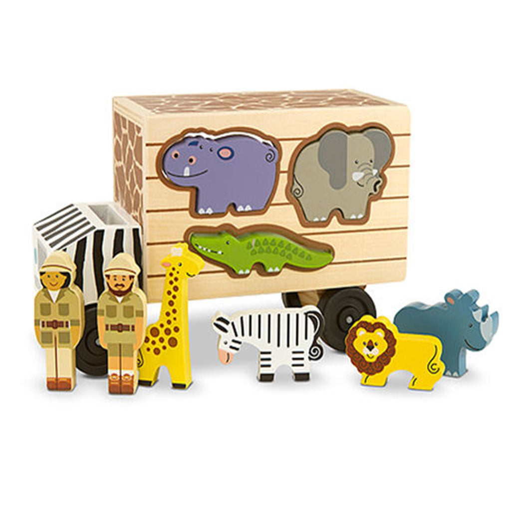 Melissa & Doug Animal Rescue Wooden Shape-Sorting Truck