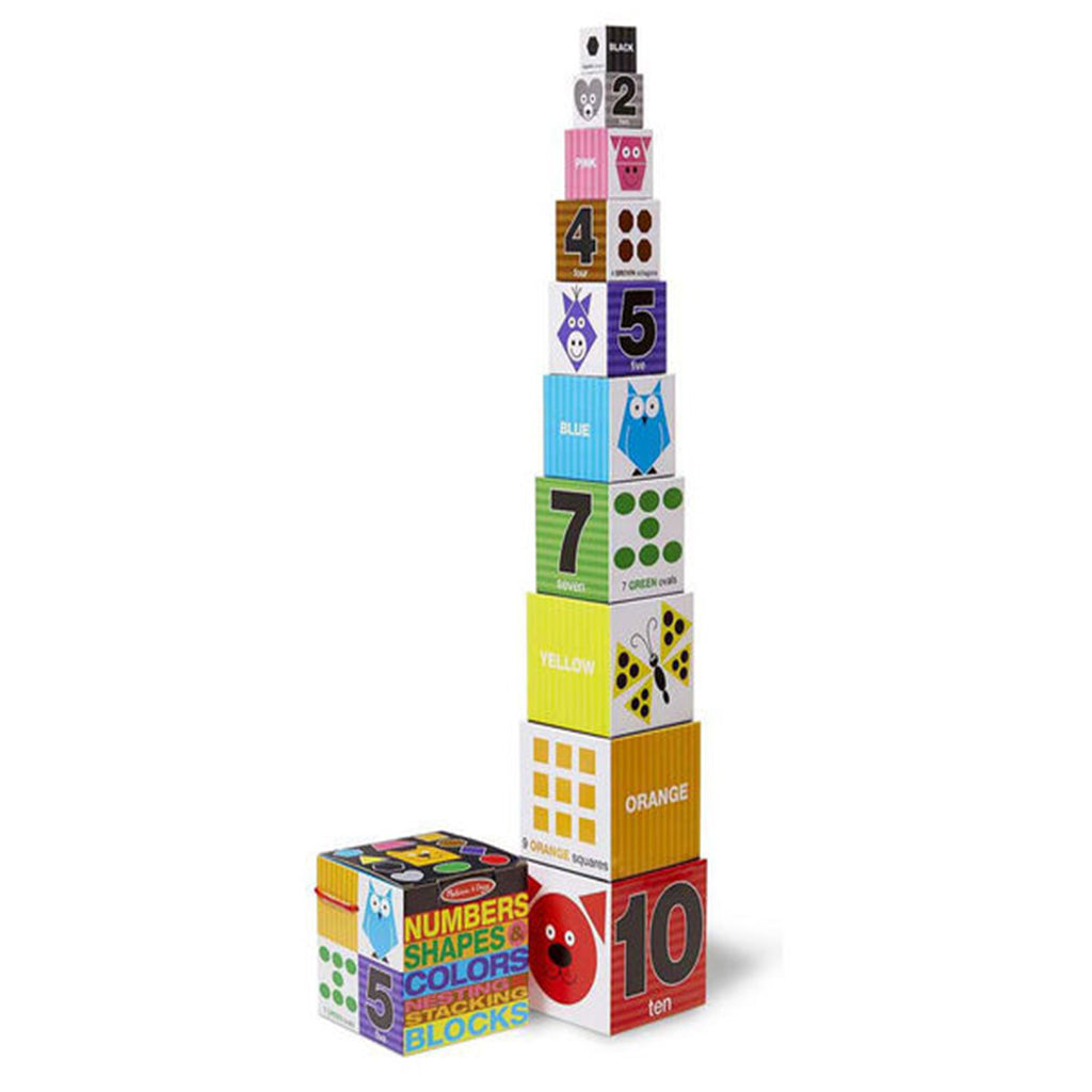 Melissa & Doug Nesting & Stacking Blocks - Numbers