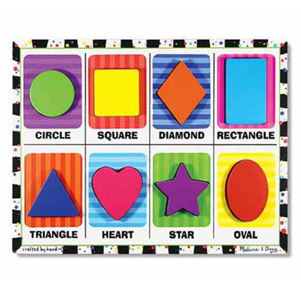 Melissa & Doug Chunky Puzzle 8 pcs - Shapes