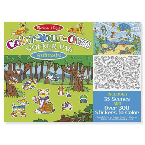 Melissa & Doug Colour-Your-Own Sticker Pad Animals