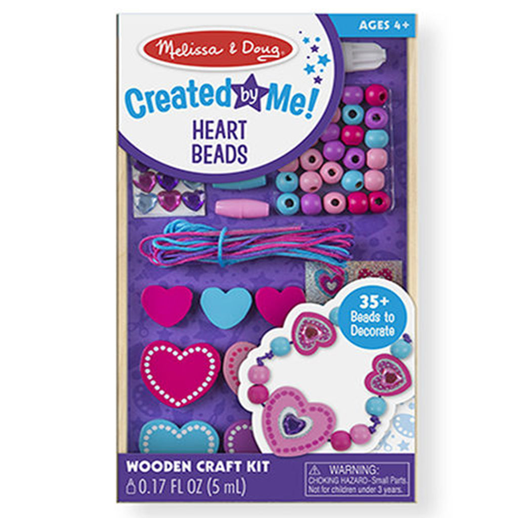 Melissa & Doug Decorate-Your-Way Wooden Heart Bead Set