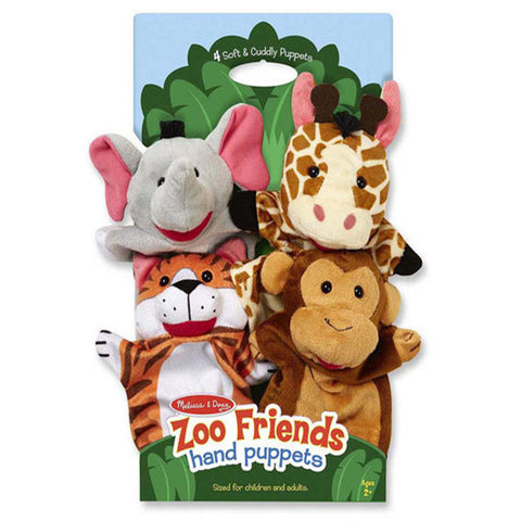 Melissa & Doug Hand Puppets Zoo Friends
