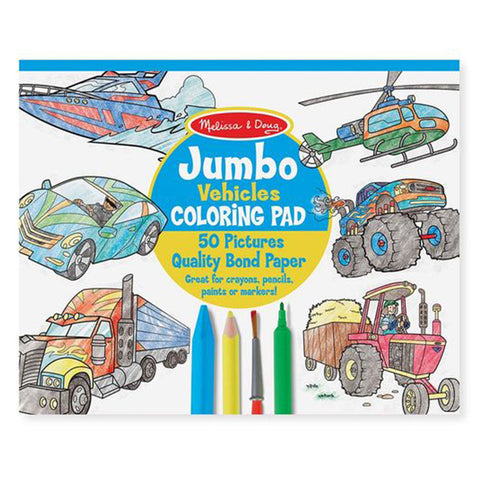 Melissa & Doug Jumbo Coloring Pad Vehicles