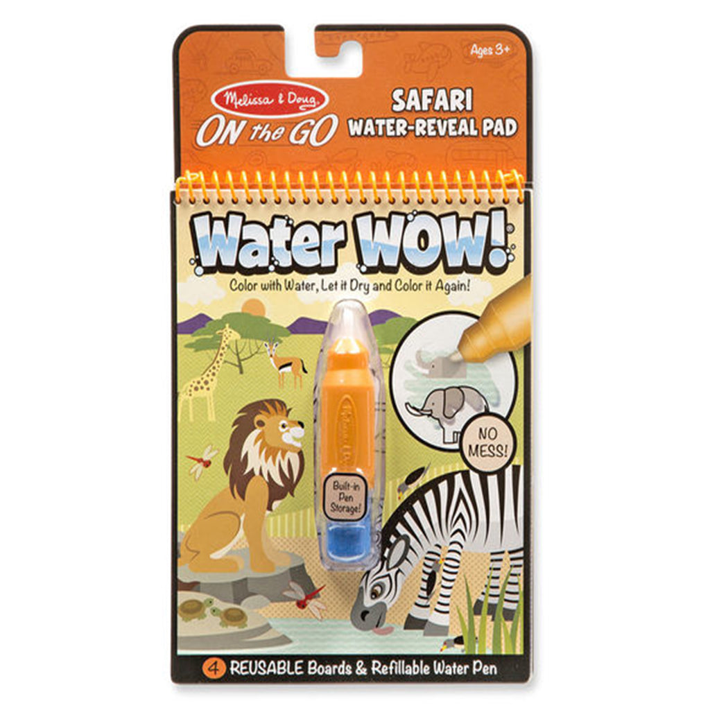 Melissa & Doug ON the Go Water Wow! Travel Activity - Safari Water Reveal Pad