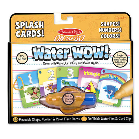 Melissa & Doug ON the GO Water Wow Splash Cards Number Color Shape