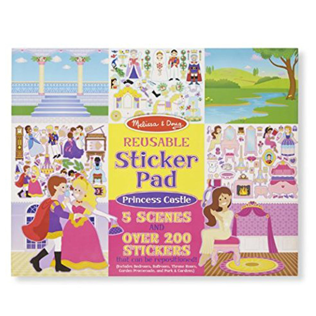 Melissa & Doug Reusable Sticker Pad - Princess Castle