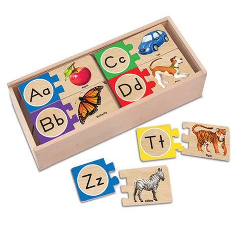 Melissa & Doug Self-Correcting Puzzle - Alphabets