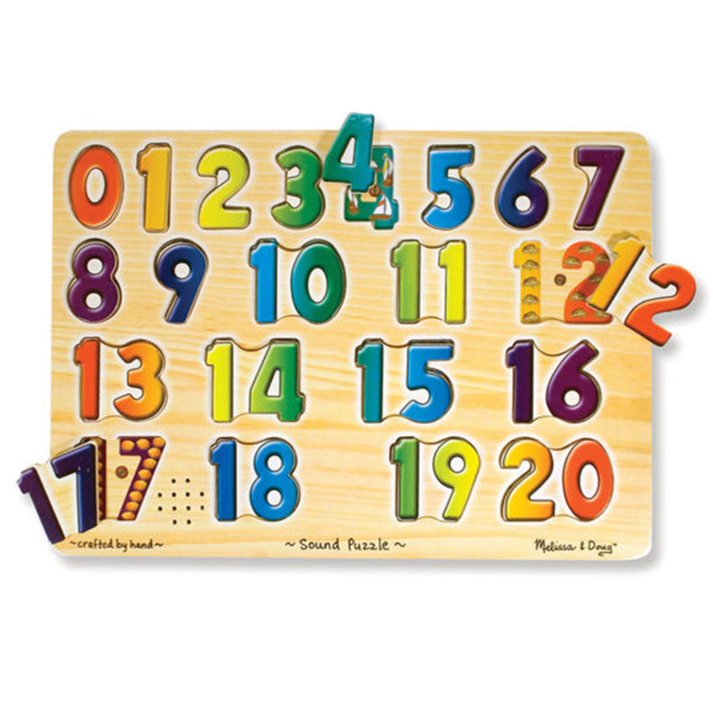 Melissa & Doug Sound Puzzle 21pcs- Numbers