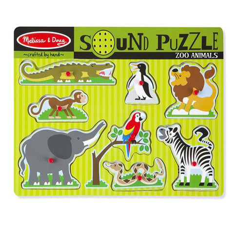Melissa & Doug Sound Puzzle 8pcs - Zoo