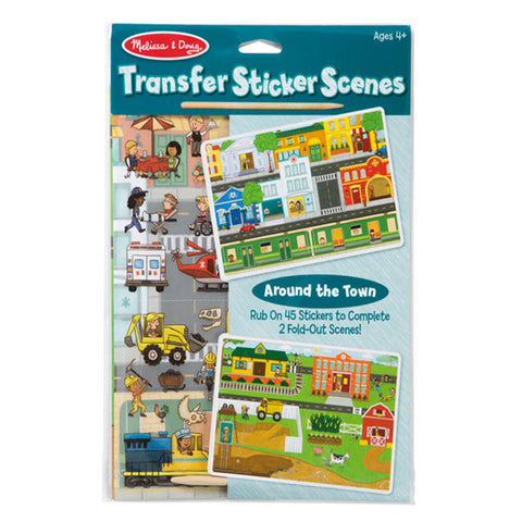 Melissa & Doug Transfer Sticker Scenes - Around the Town