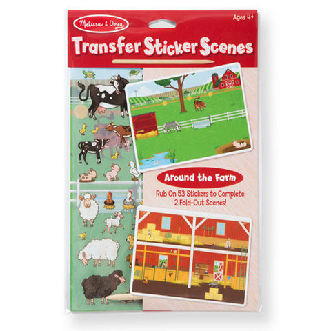 Melissa & Doug Transfer Sticker Scenes - Around the Farm