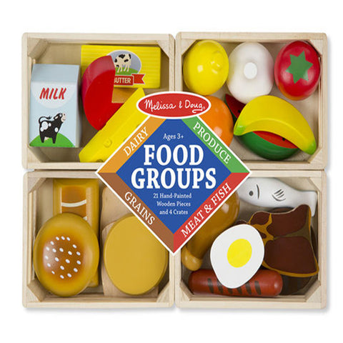 Melissa & Doug Wooden Play Food - Food Groups