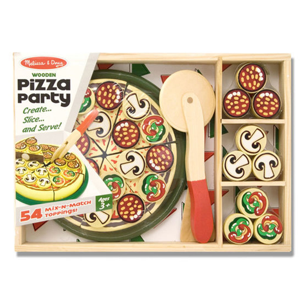 Melissa & Doug Wooden Play Food Pizza Party
